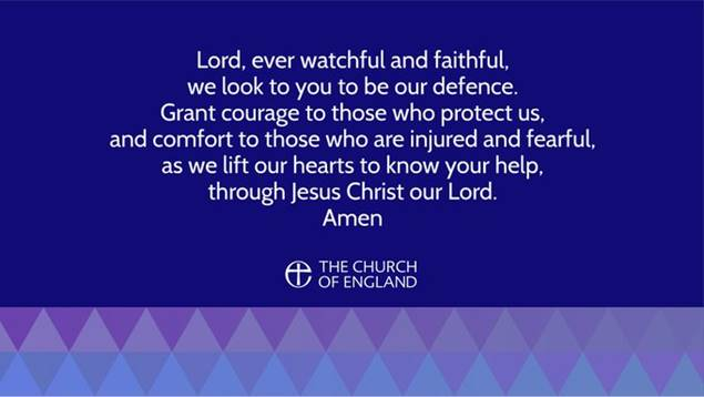 Bishop Christopher asks us to pray for all of those affected by the events of 29th November