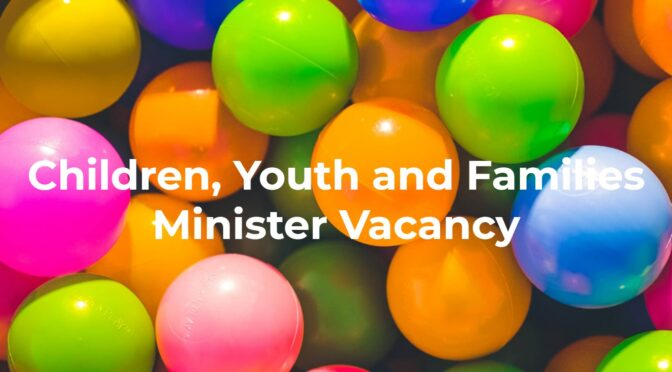 Children, Youth and Families Minister Vacancy at Holy Trinity, Richmond