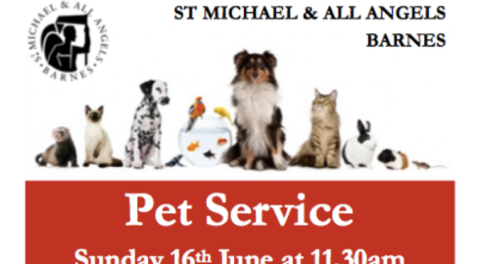 Pet Service at St Micheal and All Angels